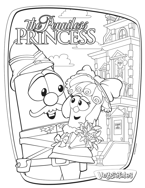 Veggie tales esther coloring pages coloring pages for Free veggie tales coloring pages